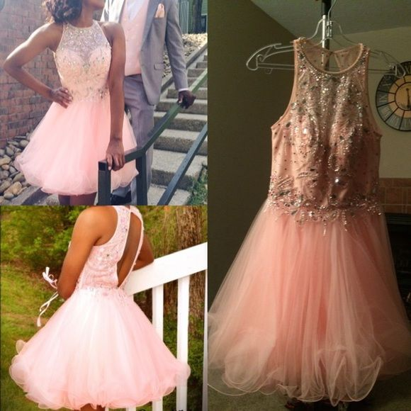 Blush Prom Dress Blush prom dress 2015 Size: 2 Worn once  Color: Apricot Perfect condition Blush Prom Dresses Mini