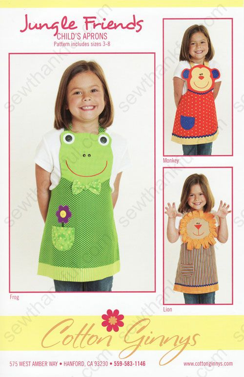 Cotton-Ginnys-Jungle-Friends-Apron-sewing-pattern-Front.jpg                                                                                                                                                      Más
