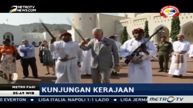 Tiba di Muskat, Pangeran Charles Disambut Tarian Pedang