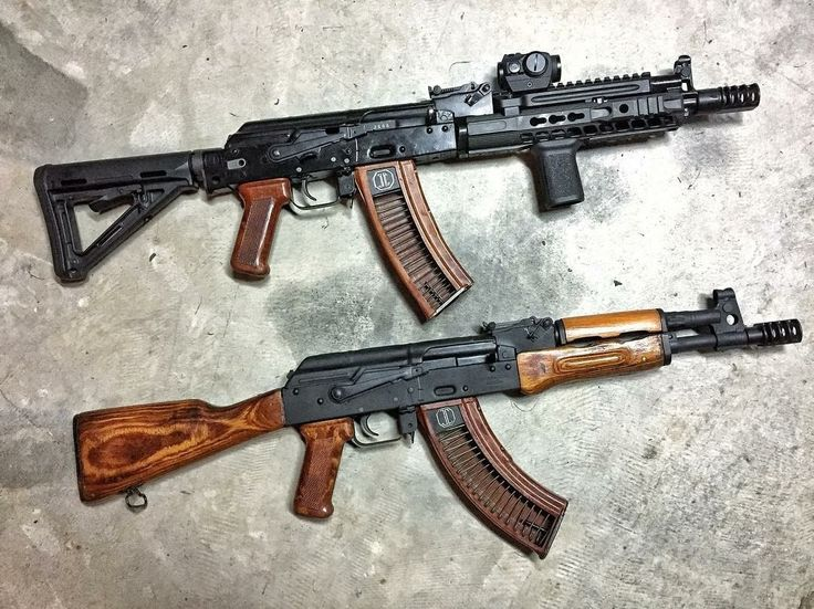 190 отметок «Нравится», 2 комментариев — AK Addicts (@ak_addicts) в Instagram: «Credit to @jmaccustoms : Top or bottom? Top is an AK-105 with our #rrd4c24 muzzle brake…»