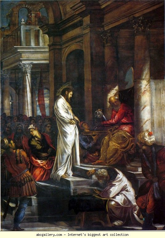Jacopo Robusti, called Tintoretto. Christ before Pilate.