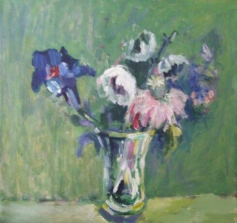 #Flori albastre, 40/40, a/p, 2015/ #scar # muzeulcotroceni / mai - iulie 2015 / colecție Roxana Rizescu