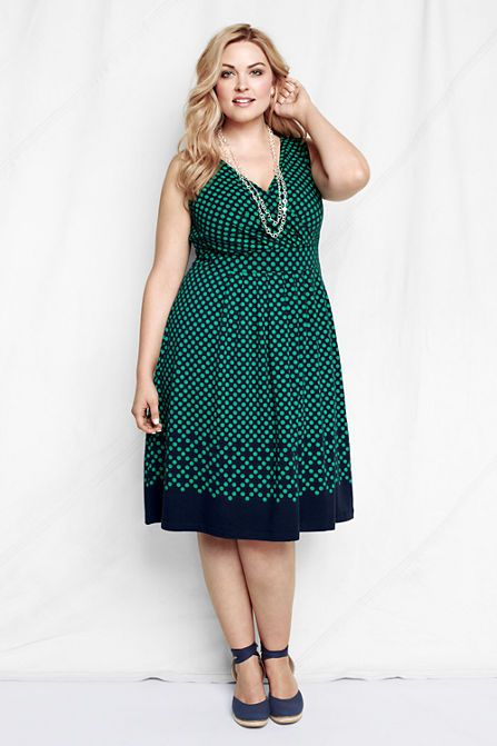 Land S End Women S Sleeveless Cotton Modal Pattern Fit And