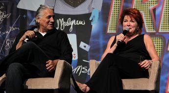 Kate Mulgrew and Robert Beltran at Star Trek Las Vegas 2013.