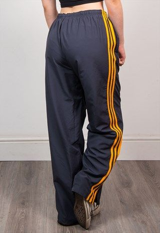 2d0f5226fa4c ADIDAS Vintage 90 s Grey   Orange Tracksuit Bottoms Trousers ...