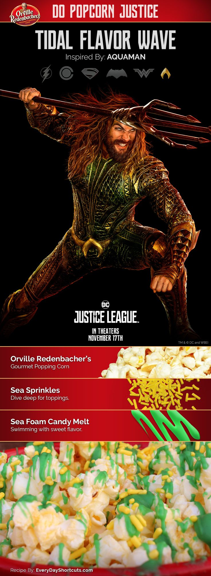 Tidal Flavor Wave Popcorn: inspired by Aquaman #orvillepopcornjusticesweepstakes