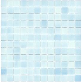 Elida Ceramica�12-1/2-in x 12-1/2-in Baby Blue Glass Mosaic Square Wall Tile (Actuals 12-1/2-in x 12-1/2-in)