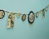 ...this has definitely inspired me to make my own bunting... Victorian Grotesque Medical Curiosity Garland. $38.00, via Etsy.