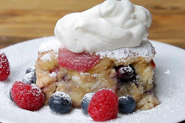 This Berries And Cream French Toast Bake Will Elevate Your Brunch Game