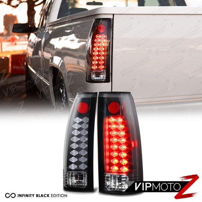 Details About 1988 1998 Chevy Gmc Silverado Sierra Suburban Tahoe Led Black Tail Lights Lamps Real Toys 1500 1993