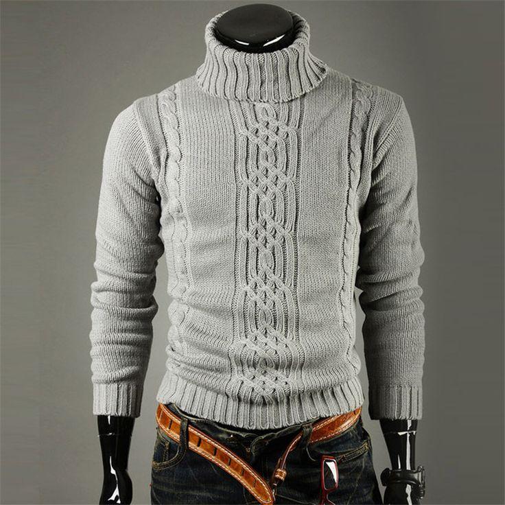 Turtleneck Fashion 2016 Christmas Sweaters Flowers Men Winter Warm Autumn Camisola Pullover Coat Knitwear Maglione Uomo Male