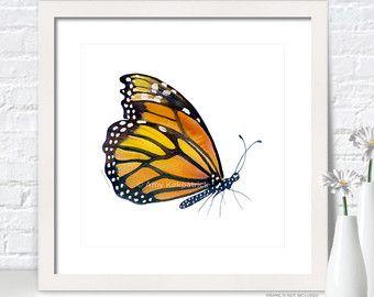 #83 rojo vela mariposa, acuarela, pintura de Amy Kirkpatrick 104 mariposas en serie • SKU 0393  Elija impresión, 5-Pack de tarjetas de felicitación, o pintura Original  Este arte brillante mariposa acuarela roja traerá un poco de color y serenidad a cualquier sitio. Fondo es el blanco del papel. Se ve muy bien por sí mismo o en una agrupación. Cabrá en un marco cuadrado o del rectángulo.  -------PRINTS…