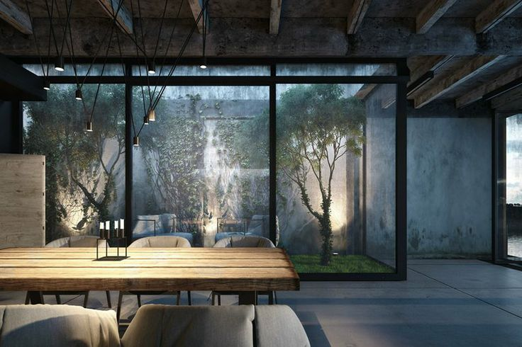Love the light and trees in the window. Beautiful room.