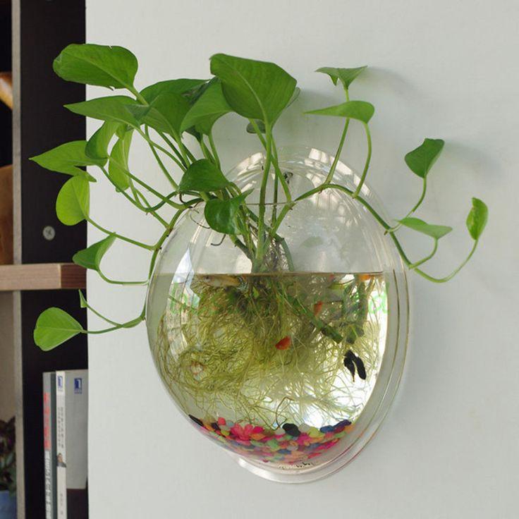 New wall mounted fish tank betta bubble aquarium for Bubbles in betta fish tank