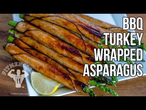 Best Protein Snack – BBQ Turkey Wrapped Asparagus.  I make this a lot now.  Chris loves it too.  I skip the searing part and just bake for 8 minutes at 400.  I also wrap one piece of meat around 2 or 3 spears instead of 1.