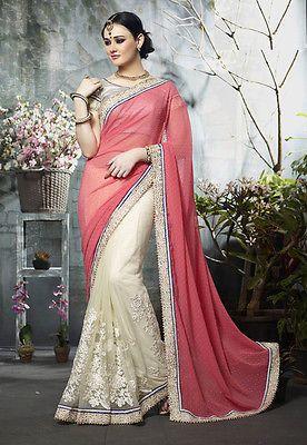 sari Indian Ethnic Bollywood Designer Saree Party Wear Traditional Dress Wedding