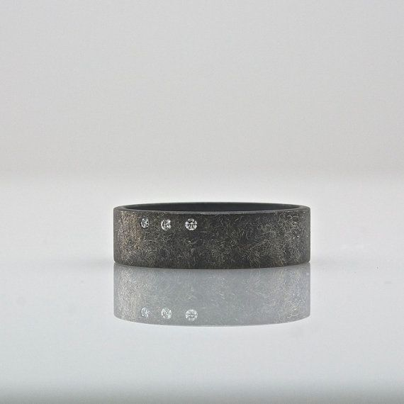 Mens Wedding Band  Women's Wedding Ring  Three by CocoandChia, $350.00