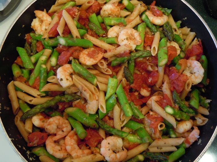 Green Beans, Pasta with Shrimp 008
