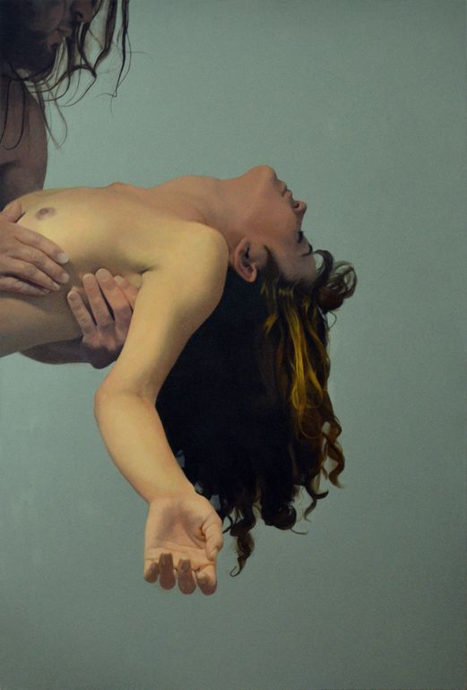 """ARTIST: Azamat Kuliev ~ """"Desire to Fall"""" (Turkish) (Oil) (some question as to the actual painter)"""