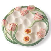 tulip deviled egg plate