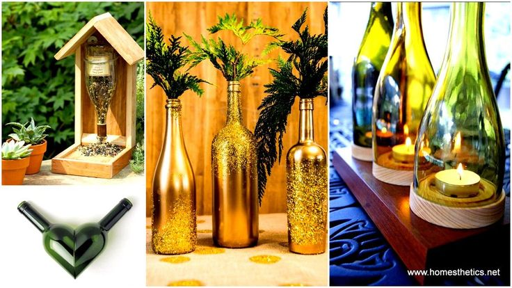 Wine Bottle Crafts Projects