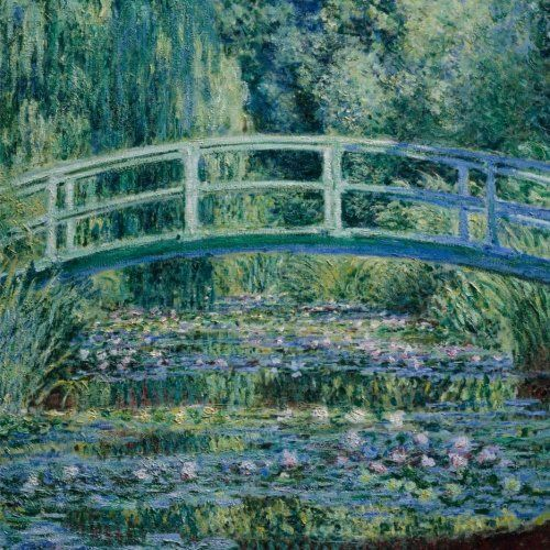 Water lilies and Japanese bridge,  Claude Monet. Blank journal: 150 blank pages, 8,5 x 8,5 inch (21.59 x 21.59 centimeters) Laminated. (Paper notebook, composition book) by Studio Beeker http://www.amazon.com/dp/1522917713/ref=cm_sw_r_pi_dp_AhCFwb04B9GP2