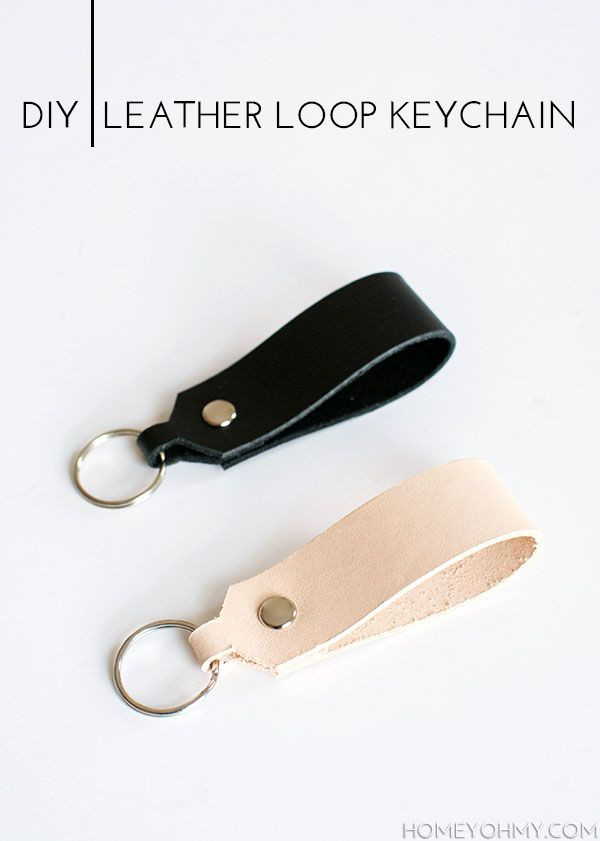 How to make a leather strap key ring.