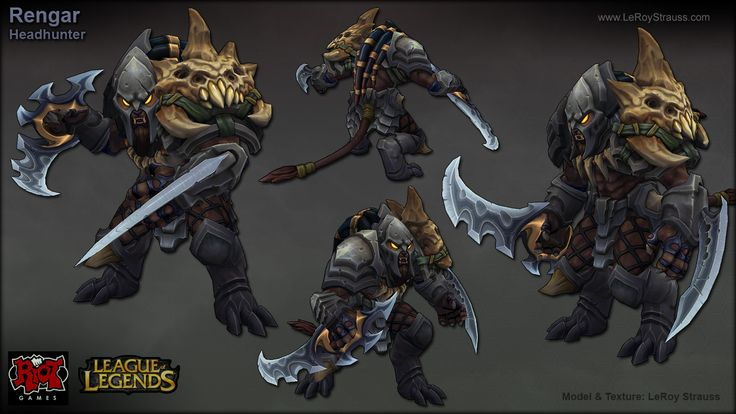 Rengar_VI by Lee Strauss | Game Art_LowPoly | Pinterest ...