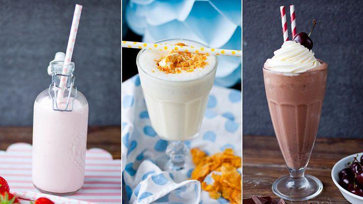 Sjokolade, jordbær og annet digg: Fem oppskrifter på hjemmelaget milkshake i en fei - Godt.no - Finn noe godt å spise