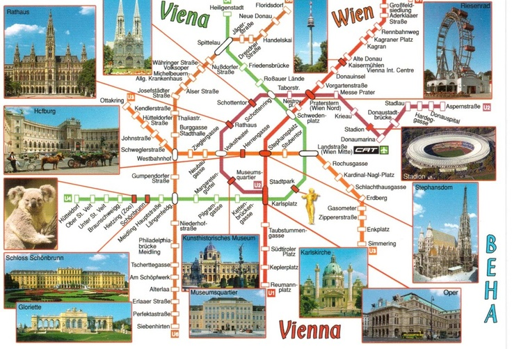Vienna map postcrossing Travel and beyond – Vienna Travel Map