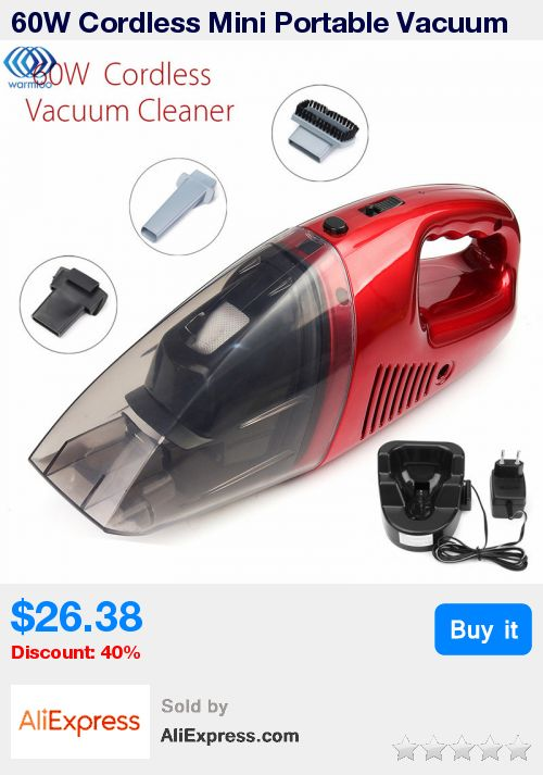 60W Cordless Mini Portable Vacuum Cleaner For Car Dry Wet Handheld Super Suction Dust Collector Cleaning * Pub Date: 11:19 Jul 4 2017