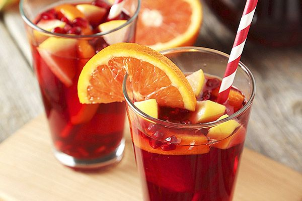 In a pitcher, combine Carlo Rossi Sangria, E&J Brandy and triple sec. Add sliced fruit and soda to fill. Chill up to 24 hours, or serve immediately over ice.