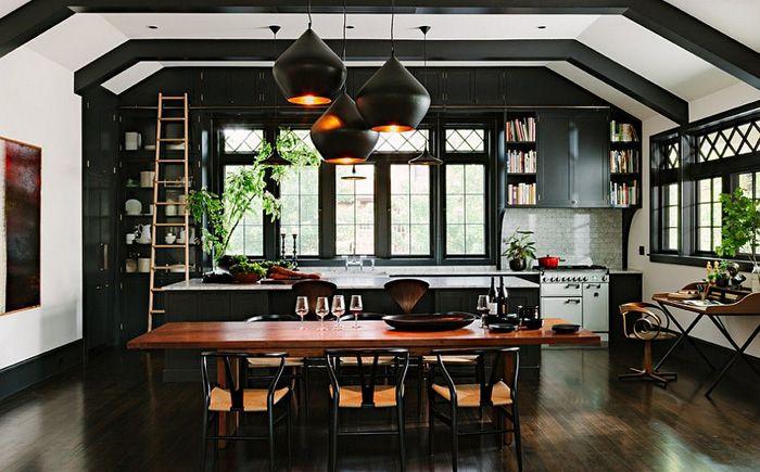 Открытая планировка - кухня. столовая, гостиная