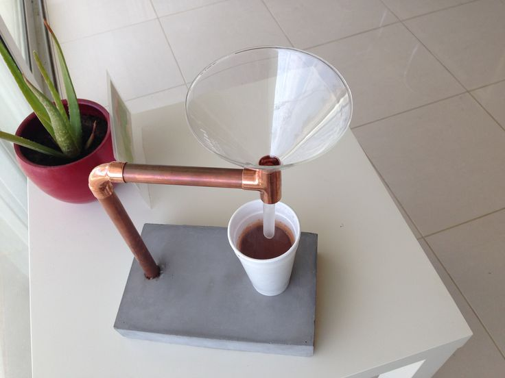 Coffee maker. Copper, cement, DIY