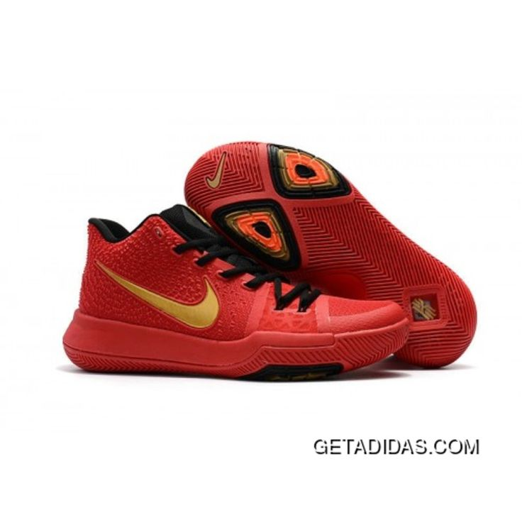 Cheap Genuine Nike Kyrie 3 Red Gold Medal Best