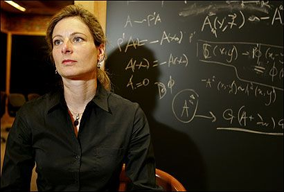 The first woman ever tenured in the physics departments of Princeton, MIT, and Harvard, Lisa Randall is hard at work in the areas of particle physics and cosmology, part of a journey to determine the makeup of the universe. In 2004 she held the distinction of being the most cited theoretical physicist of the past five years. She continues to do ground-breaking research in particle physics and cosmology, and currently serves on the editorial boards of several theoretical physics journals.