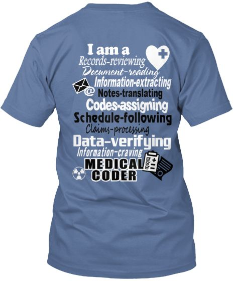 Medical Coder t-shirt