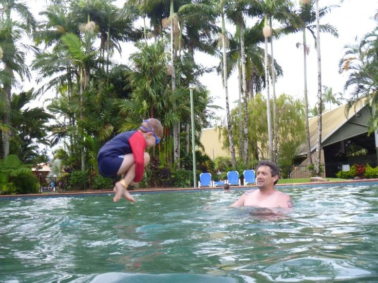 Cairns Caravan Parks swimming pool fun #cairnscoconut