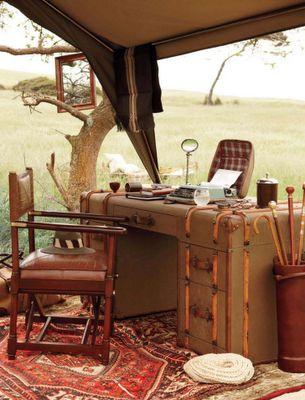 Safari style campaign furniture