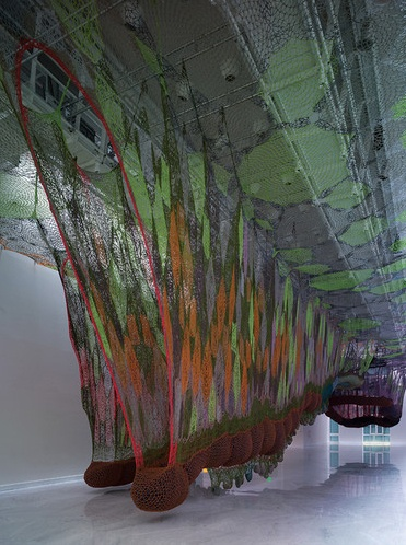 Sculpture by artist Ernesto Neto for a piece in Faena Arts Center in Buenos Aires.    30 Crocheters, 1 Vision | crochet today