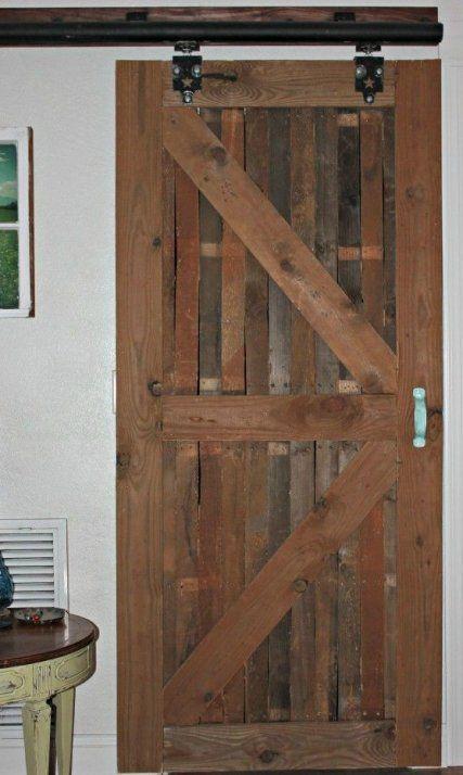 Puertas de palet decoraci n de paredes pinterest for Cristales para puertas de interior
