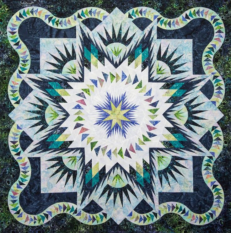 Glacier Star, Quiltworx.com, Made by CI Lea Marty