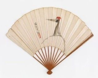 1887: Freer begins to collect Asian art through New York dealers. His first work of Japanese art, a fan decorated with a crane design, was later found to have an inauthentic signature and seal of Ogata Kōrin. A Crane; style of Ogata Kōrin 尾形光琳 (1658–1716); Japan, Edo period, 19th century; ink and color on paper; Gift of Charles Lang Freer; F1887.1