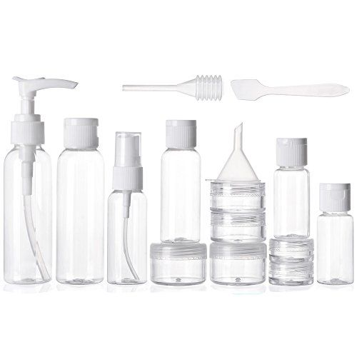 Alink 16 Piece Travel Bottle Set - Lightweight Hygiene Essentials and Cosmetic Container Set for Travelling - 16 Piece Compact Kit with Waterproof Transparent Pouch ALINK http://www.amazon.com/dp/B01470VEOE/ref=cm_sw_r_pi_dp_pCfQwb17V42H9