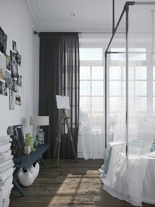 Industriële Scandinavische slaapkamer | Slaapkamer ideeën