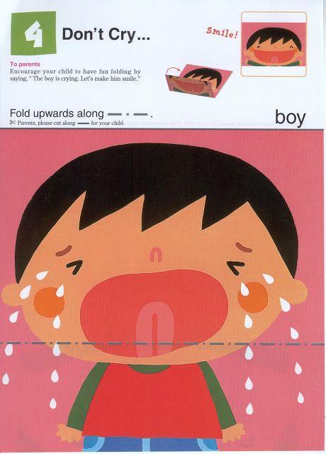 Vouw van een huilend kind een lachend kind