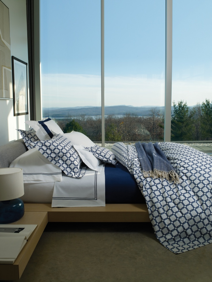 Italian-woven and Italian-printed Barrington bedding. #sferra