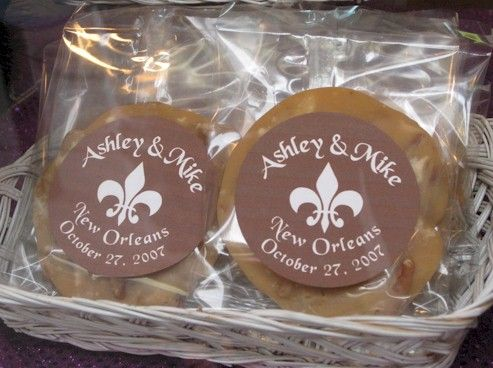 Pralines With Personalized Fleur De Lis Labels Make Great