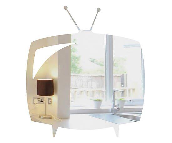 Стикер-зеркало «Телевизор» - зеркальный акрил - В29xШ32