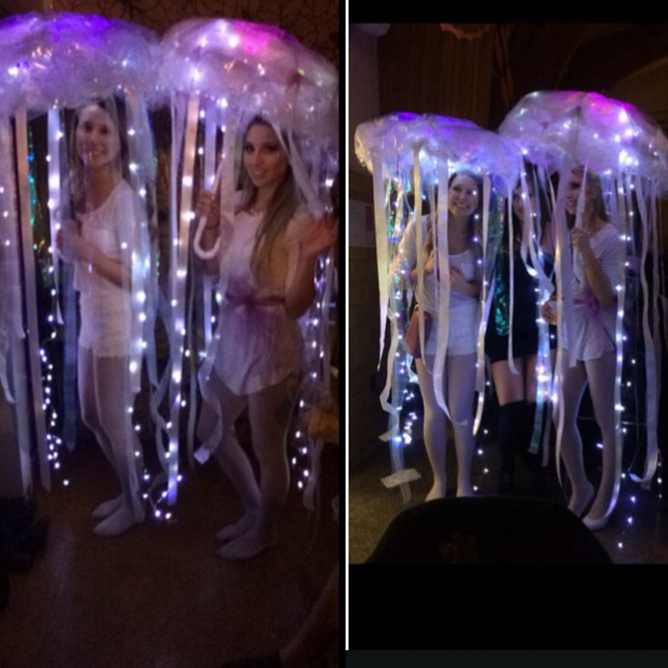 Our DIY jellyfish costumes. It was a hit everyone loved them! #jellyfish…